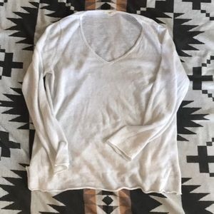Eileen Fisher medium pullover top white linen
